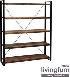 boekenkast strong hout metaal strong